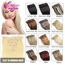 Remy natural color реми расширения наращивание зажим человеческих клип волос в