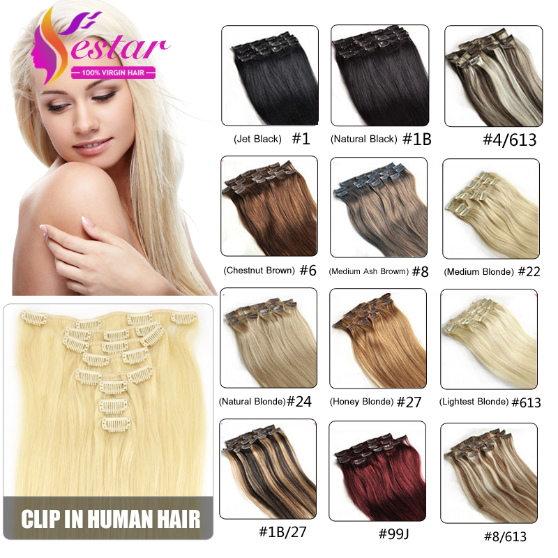 Clip in human hair extensions remy virgin brazilian hair clip in clip in human hair extensions remy virgin brazilian hair clip in hair extensions natural color 6a human hair clip in extensions on aliexpress alibaba pmusecretfo Choice Image