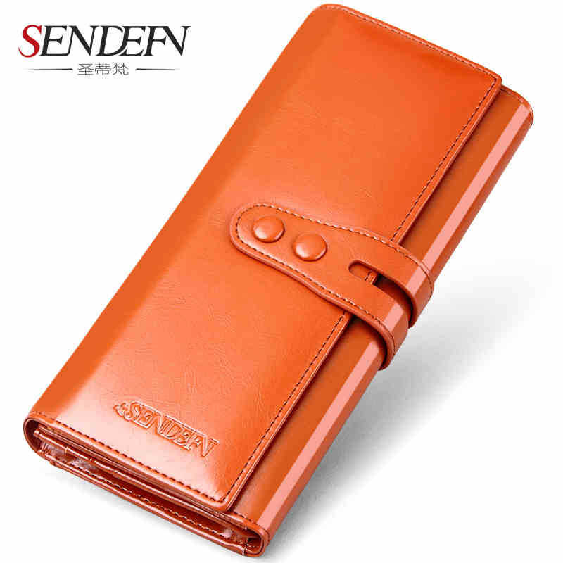 product women wallets long wallets Fashion Genuine Leather Wallets Lady Vintage Clutch Bag Coin Purse Women Cow latherSolid Hasp new2017