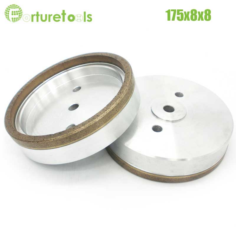 1pc Full rim 3# diamond wheel for glass edger straight line machine Dia175x8x8 Inner Diameter 12/22/50 grit 240# BL013 4 inch 6 inch straight cup diamond grinding wheel for glass edger straight line double edging beveling machine m009 page 5