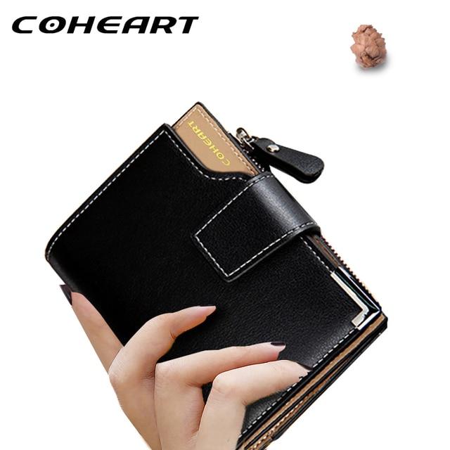 COHEART Wallet Women Leather Wallet Female Top Quality  Women Small Purse lady Money Bag Zipper Luxury Brand Wallet Hot Sell !