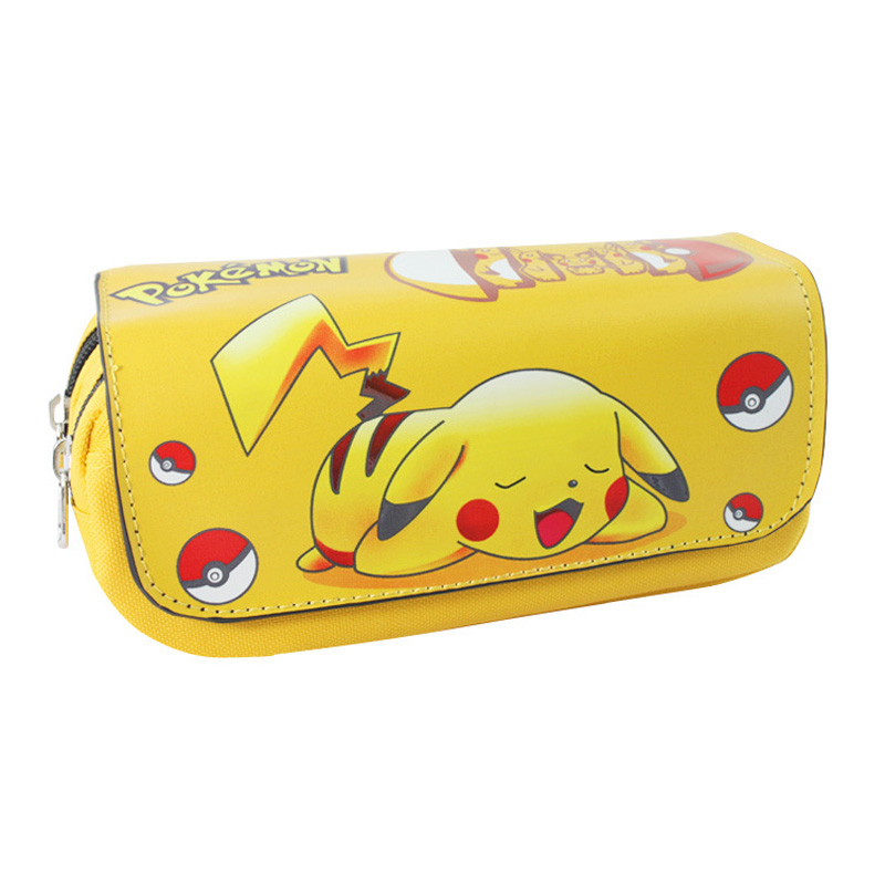 Costume Props Costumes & Accessories Anime Pokemon Pikachu Pencil Case Poke Ball Cosplay School Writing Case Children Plush Pencil-case