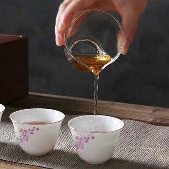 фарфоровые чайные сервизы   TANGPIN керамический гайвань с 4 чашками чайные наборы портативный дорожный чайный сервиз, кружка для вина