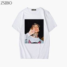 Personnage impression 3D rappeur Lil Peep T Shirt Rap Hiphop LilPeep homme Cool Streetwear tendance T-shirt graphique impression T-shirt Hip Hop hauts(China)