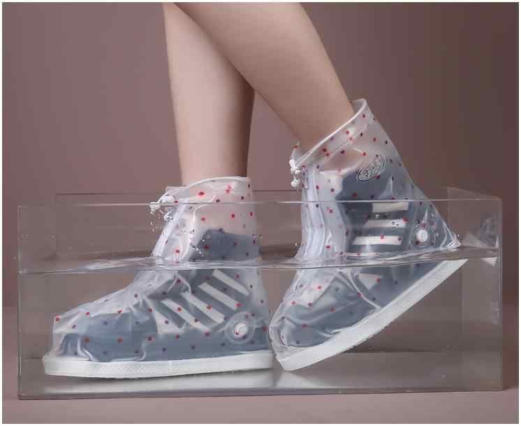 المرأة قابلة لإعادة الاستخدام أحذية المطر الأوسط يغطي جميع حماية ركوب المشي والعمل في الهواء الطلق جميع حجم متجر DYYZ