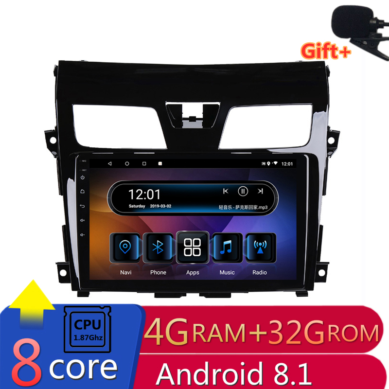 10 1 4G RAM 8 cores Android Car DVD GPS Navigation For Nissan TEANA 2013 2014