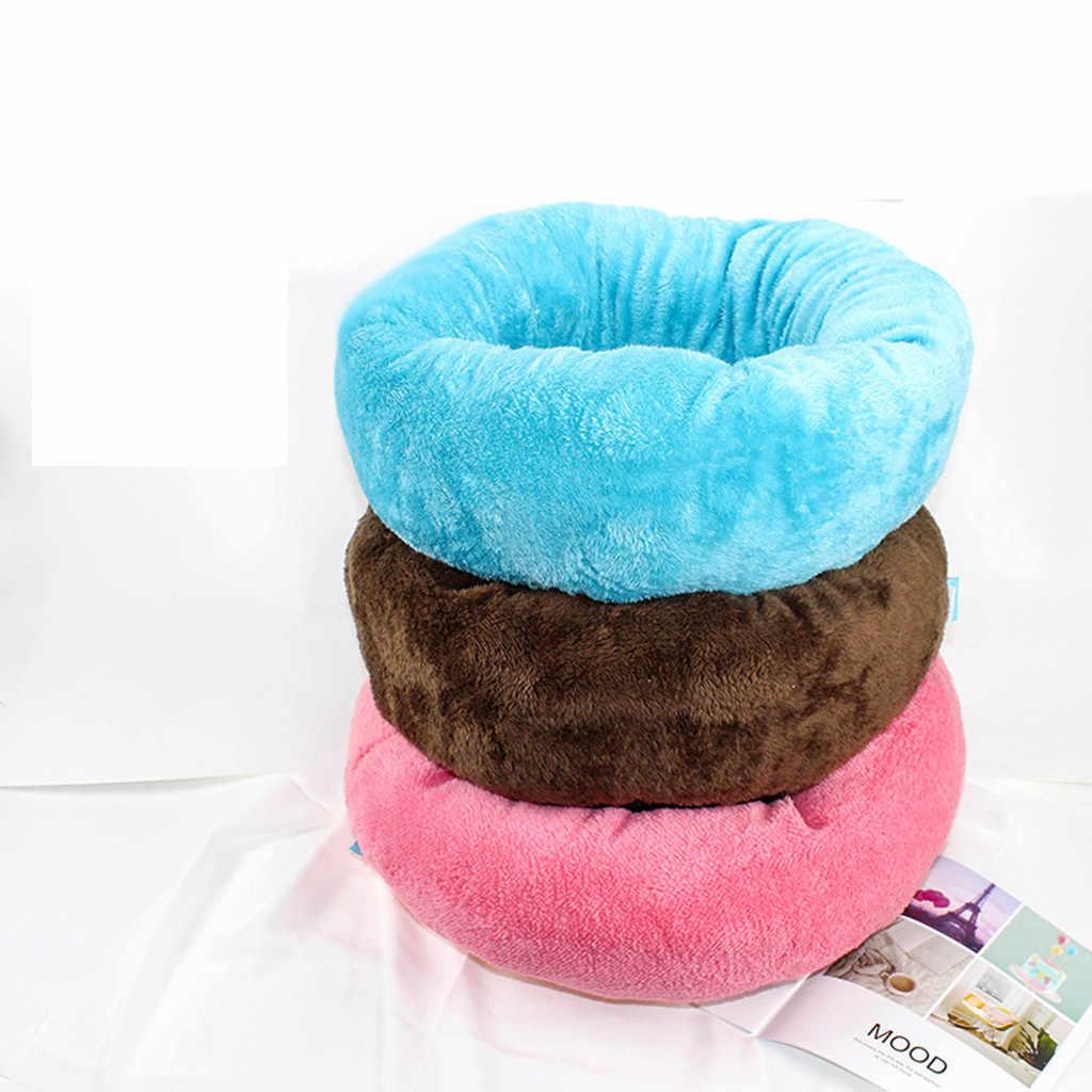Мягкий флис собака щенок кошка теплая кровать Дом плюш уютное гнездо коврик