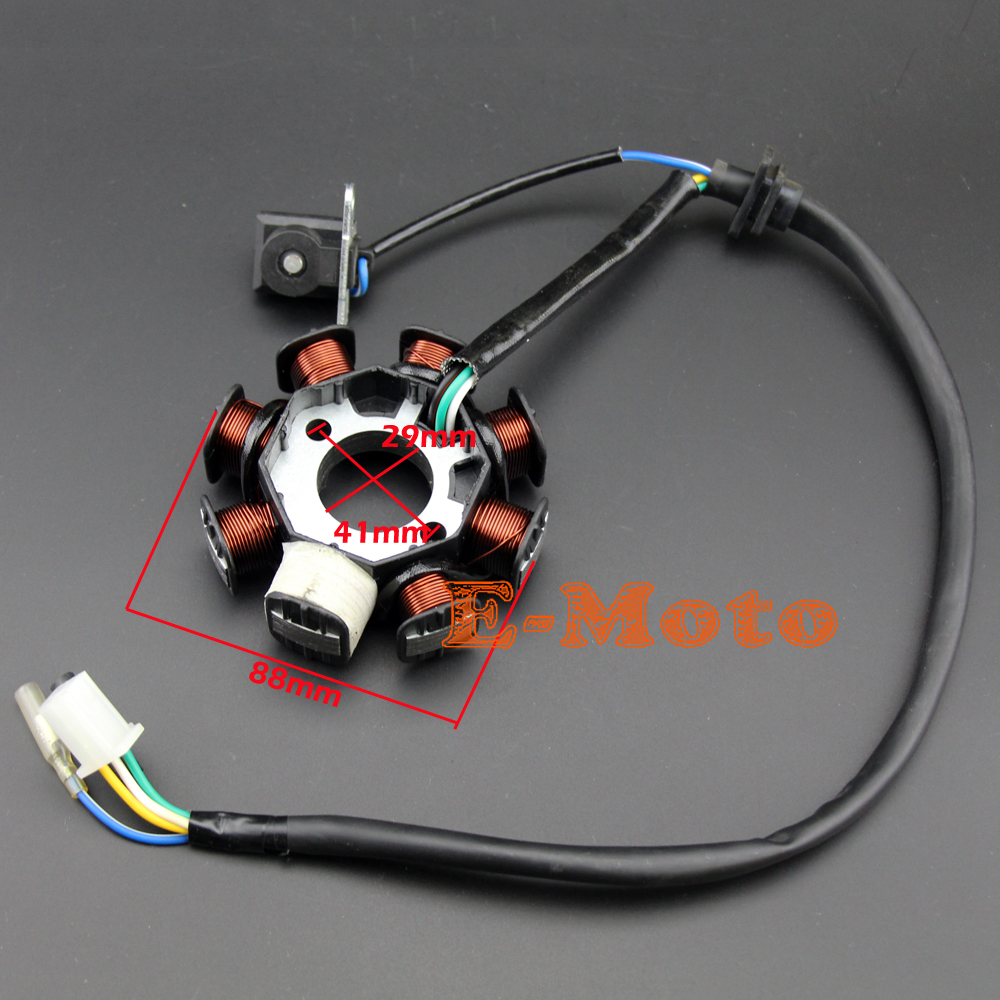 hight resolution of chinese scooter gy6 125cc 150cc 8 pole 8 coil magneto stator charging system 8 pole atv moped go kart roketa taotao bmx in motorbike ingition from