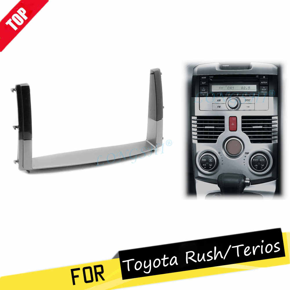 Auto 2DIN Inbouwen Radio Stereo DVD Frame Fascia Dash Panel Installatie Kits Voor TOYOTA Rush/DAIHATSU Worden-Go terios 2006 + 2 din