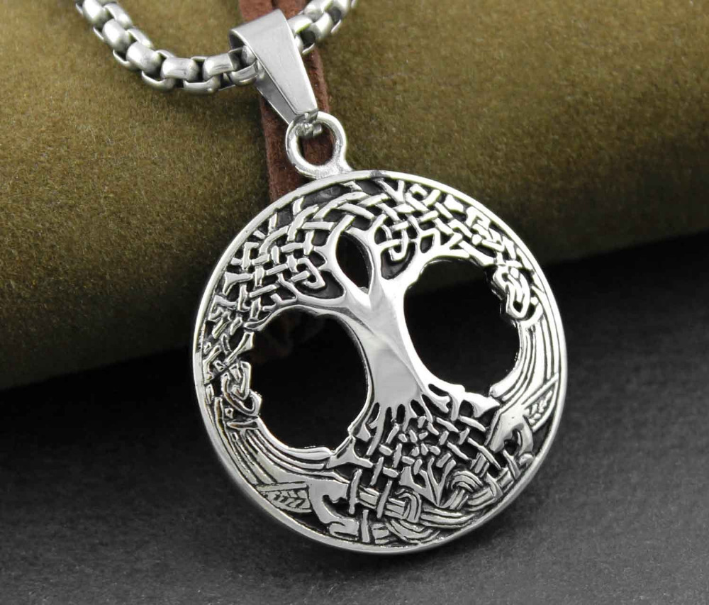 Family tree of life mens pendant necklace irish celtic knots mother family tree of life mens pendant necklace irish celtic knots mother earth root in pendants from jewelry accessories on aliexpress alibaba group aloadofball Choice Image