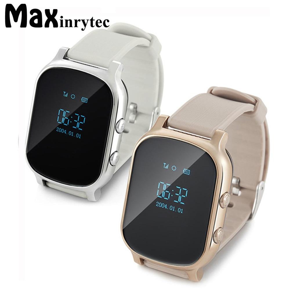 Maxinrytec GPS Tracker Smart Watch T58 for Kids Children Bracelet Google Map Sos Button Tracker Gsm GPS Locator Clock Smartwatch