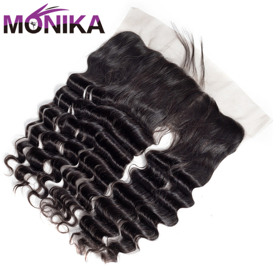 Monika Lace Frontal Closure With Baby Hair Malaysian Loose Deep Non Remy Human Hair 13*4 Ear to Ear Frontal Deep Loose Closure