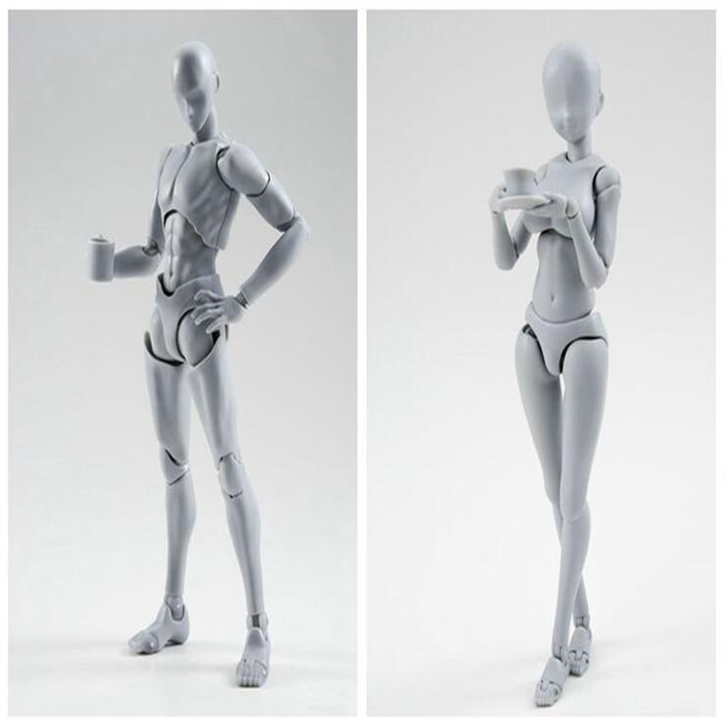 Anime Mannequin Male And Female Ferrite Dolls Collection Figure 14cm 2 Style Movable Joints ...