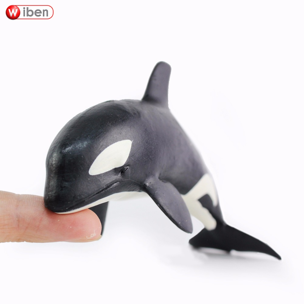 Wiben Sea Life Small size Killer Whale Simulation Animal Model Action & Toy Figures Learning & Educational Marine Gift for Boys easyway sea life gray shark great white shark simulation animal model action figures toys educational collection gift for kids