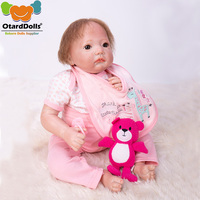 bebe reborn doll 50cm Baby girl Dolls soft Silicone Boneca Reborn Brinquedos Bonecas children's day gifts toys bed time plamates