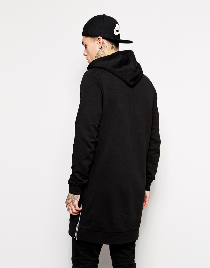 8f16266a5 2018 Streetwear Men's Long Black Hoodies Sweatshirts Feece extra long Hoody  Side Zip Longline Hip Hop elongated for men Hoodie-in Hoodies & Sweatshirts  from ...