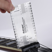 Guitar String Action Ruler High Quality Stainless Steel Gauge Tool in/