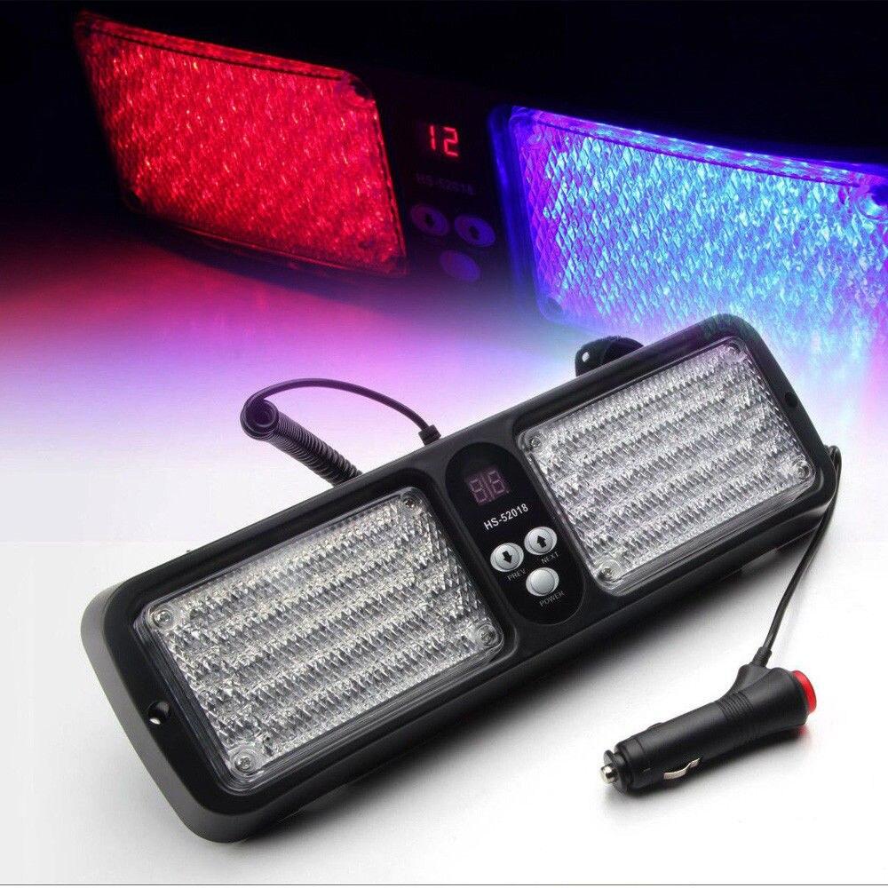 ФОТО 12 Modes 86 LED Emergency Warning Car Auto Visor Police Strobe Light Blue Red