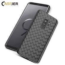 CASEIER Soft Case for Samsung Galaxy S10 lite S9 Plus Breathable Woven Phone Note 9 Funda Capa