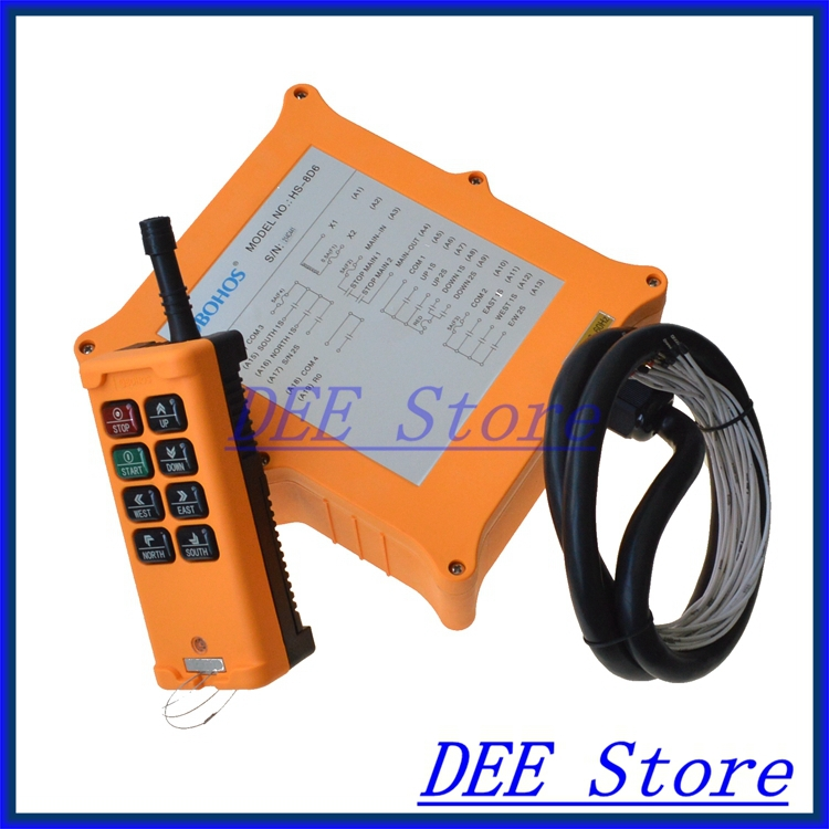 2 Speed 1 Transmitter 6 Channels Truck Hoist Crane Winch Radio Remote Control Push Button Switch System Controller 2 speed 2 transmitters 10 channels hoist crane industrial truck radio remote control push button switch system controller