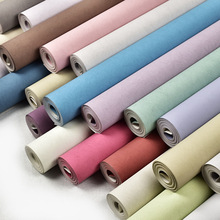 Modern Wallpapers Home Decor Solid Color Silk Wallpaper Non Woven Wall paper Rolls Decorative Bedroom Green Blue