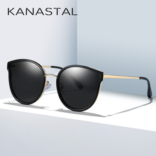 KANASTAL Cat Eyes Sunglasses Polarized Sun Glasses For Girl Luxury Women Brand Design Vintage Eye Eyewear Female