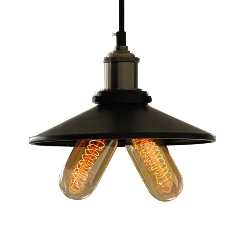 Retro vintage pendant light lamp Industrial style loft pendant lamp edison bulb american pendant lighting for bar home black e27