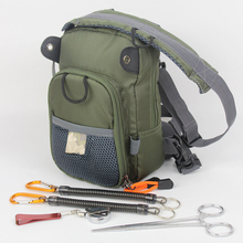 Fly Fishing Chest Waist Pack Lightweight Comfortable Adjustable Compact Bag With Four Free Fishing Tool Accessory