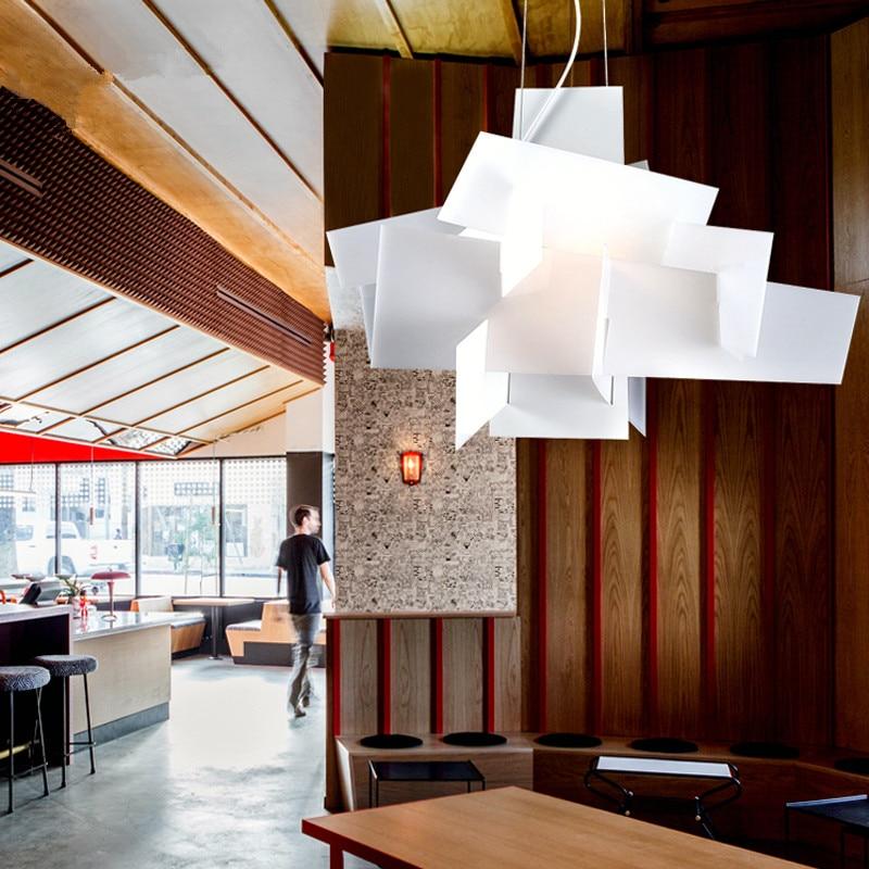 Modern Nordic Big Bang Pendant Lights Art White Pendant Lamps Restaurant Kitchen Light Fixtures Acrylic Lamps luminaire