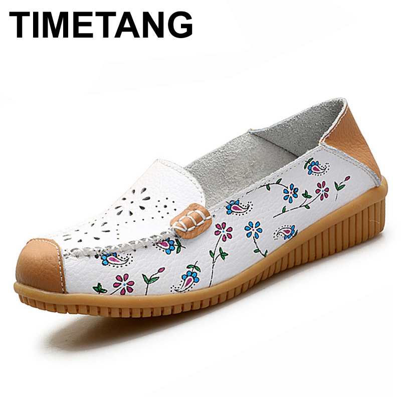TIMETANG Flats Shoes Woman Slip On Loafers Women Summer Shoes Espadrilles Split Leather Ladies Shoes Flats Zapatos Mujer Sapato dreamshining summer women ballet flats round toe slip on shoes cut outs flats shoes white sandals woman loafers zapatos mujer