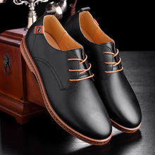 Luxury Men Leather Shoes Male Dress Shoes Business Black Flats Lace-up Oxfords Comfortable Formal Footwear chaussure homme cuir