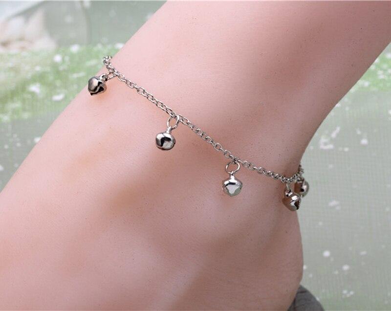 New Design Bracelet Foot Silver Anklet Small Bell Tassel Chain ...