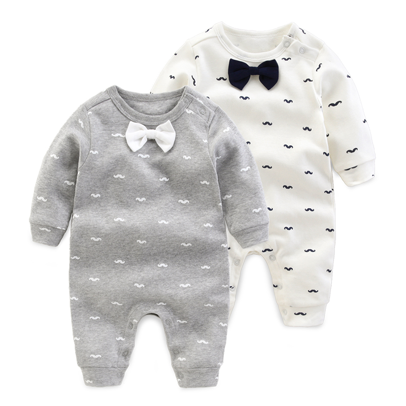 2017 spring Autumn baby boy clothing newborn Cotton Long Sleeved baby clothes Gentleman style romper Infantil