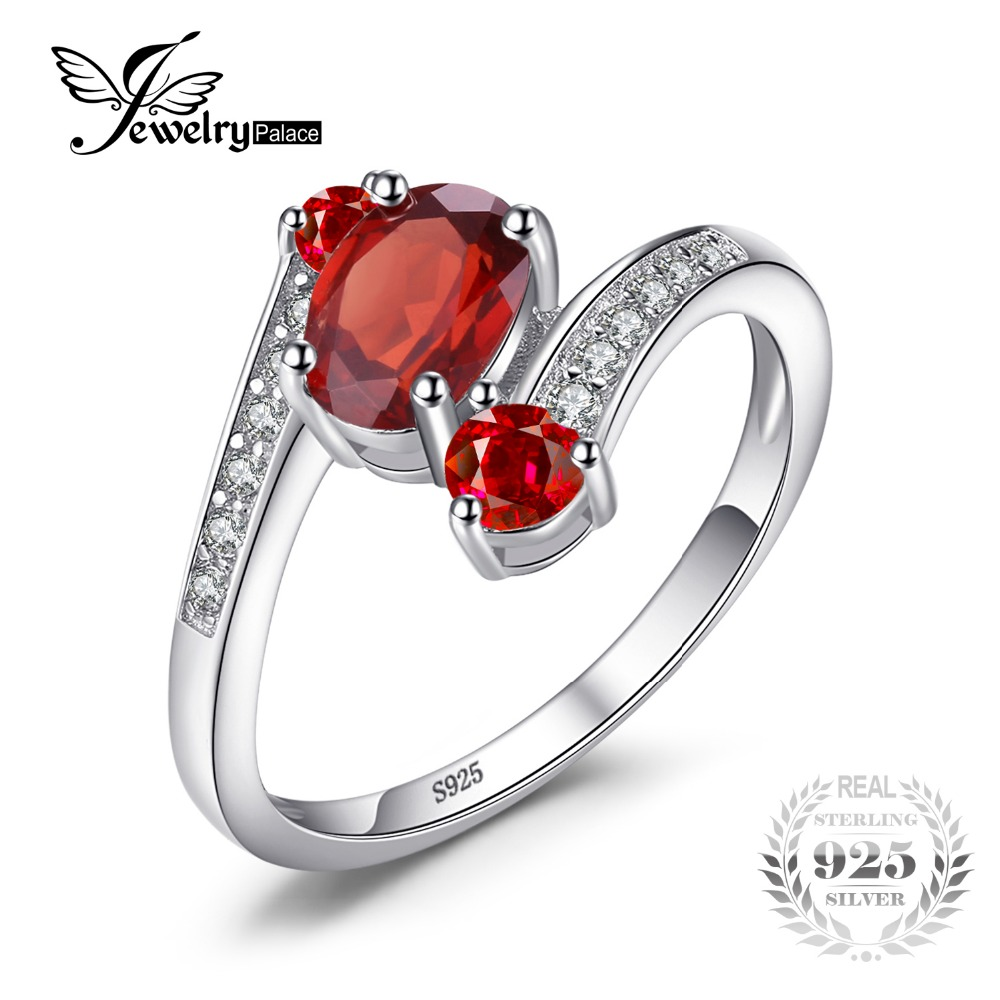 Silver Red Granite : Jewelrypalace sterling silver ct natural red garnet