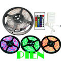 2835 smd RGB LED Strip 5M 300 leds fita de tape tiras ruban feed Non Waterproof 12V with 24key controle remoto Free Shipping