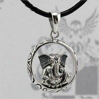 BOCAI silver pure silver 925 pendant elephant god thai silver pendant ganesha