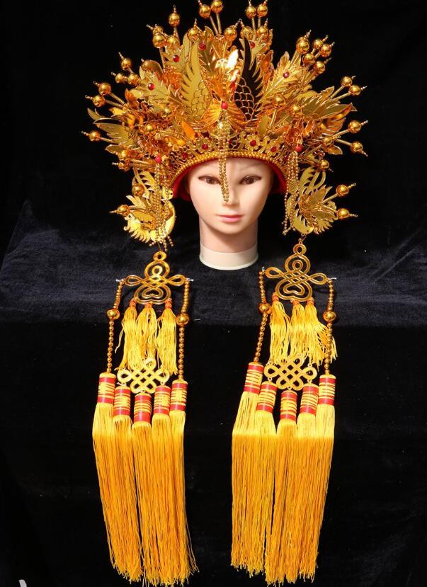 Traditionnel chinois chapeaux Phoenix couronne ancienne mariée mariage chapeau marié casquette