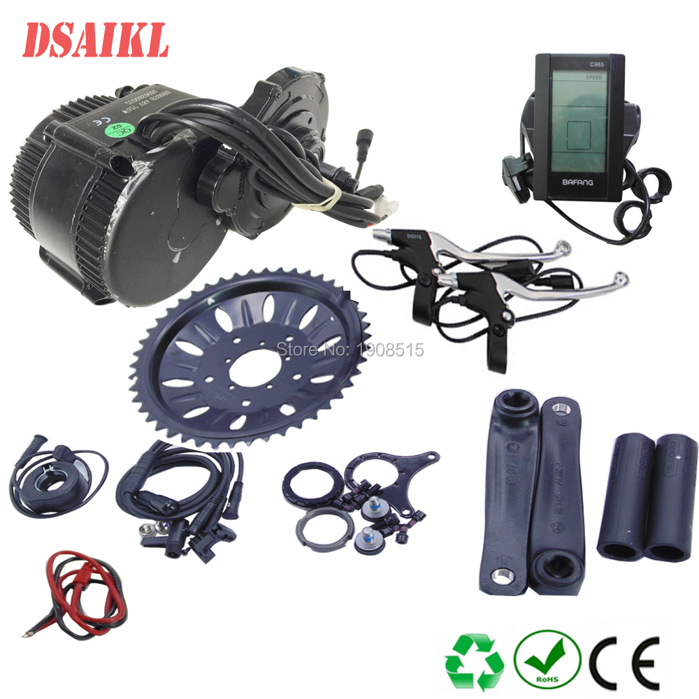 48V 1000W 750W 500W Bafang 8Fun BBSHD BBS02B Mid Drive Motor Conversion Kits For Electric Bike Middle Engine Kit image