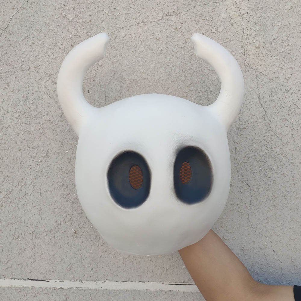 Купить с кэшбэком Hollow Knight Mask Cosplay Game Funny Latex Masks Helmet Halloween Party Props DropShipping