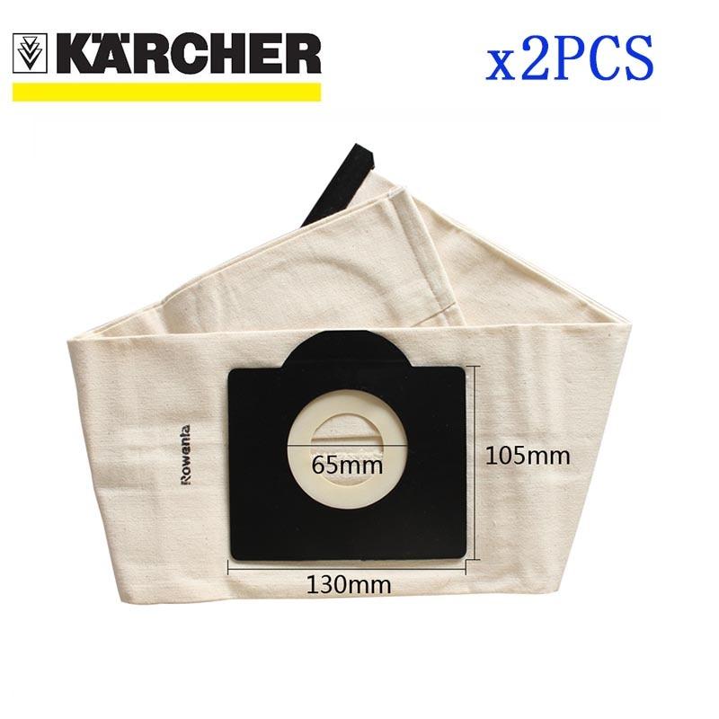 2 Pcs Washable Filter Bags For Karcher WD3 Rremium WD3200 SE4001 WD3300 Wd2 Premium SE 4000 MV3 Premium Vacuum Cleaner Bag