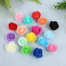 500Pieces/lot These flowers are used to decorate Flores man-made decorative roses head rose bear wedding house artificial flower