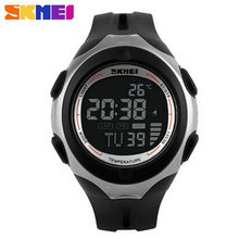 Flash sale 2016 skmei waterproof digital watch Outdoor Led Women Lady Electronic Girls Sports Alarm design Multifunctional New