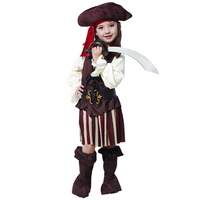 2018 New Children Boy Girl Halloween Carnival Costumes Performance Fancy Dress Kids Pirate Costume CQG0114
