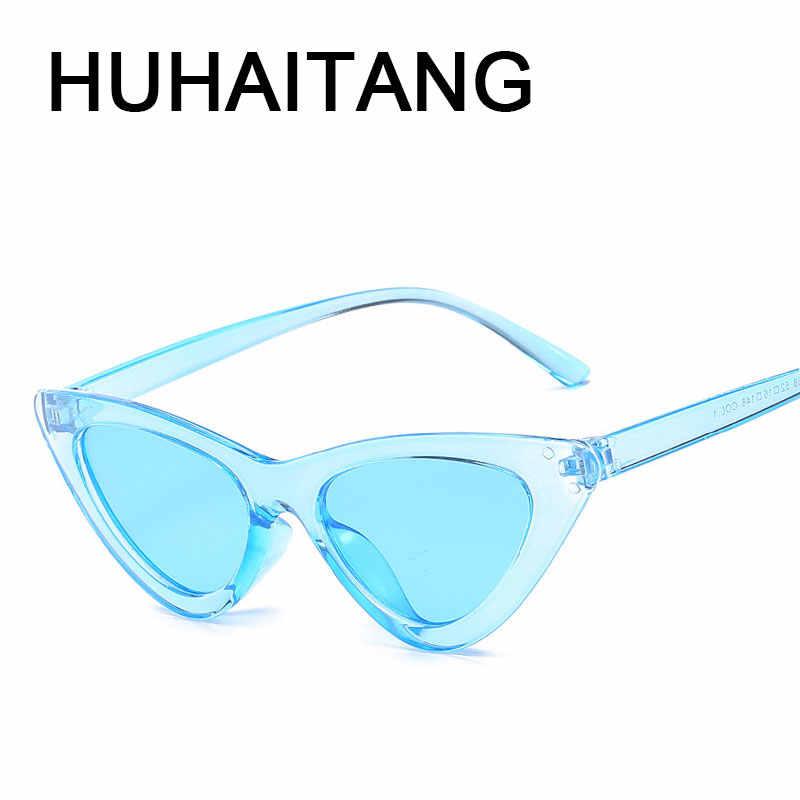 c0fe8256abf1 HUHAITANG luxury brand cat eye sunglasses women sexy female triangle sun  glasses for ladies transparent brand