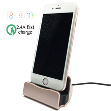 2016 New Data USB Cable Charger Dock for iphone 5 5s Stand Station Cradle Charging Dock