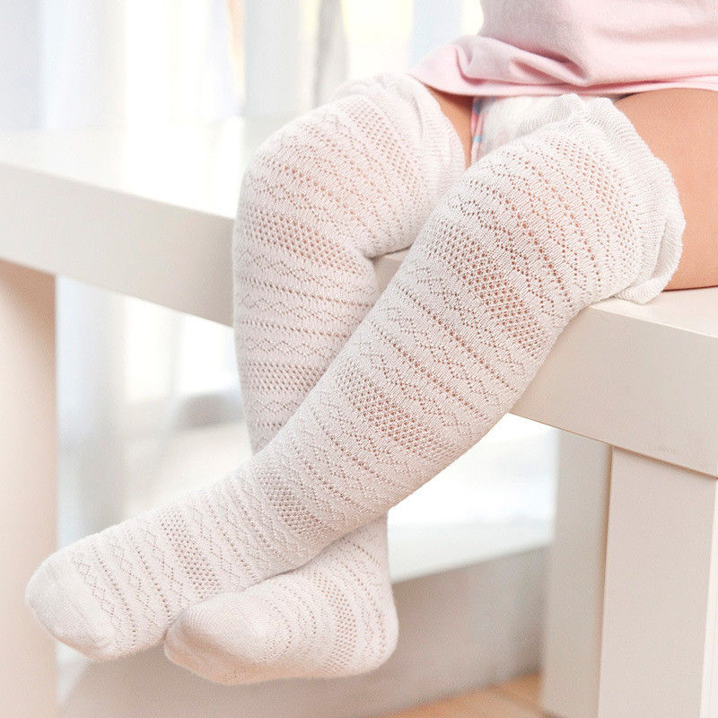 New Style in Autumn 2017 Baby Girls Striped Socks Knee High with Bows Cute Baby Socks Long Tube Kids Leg Warmers