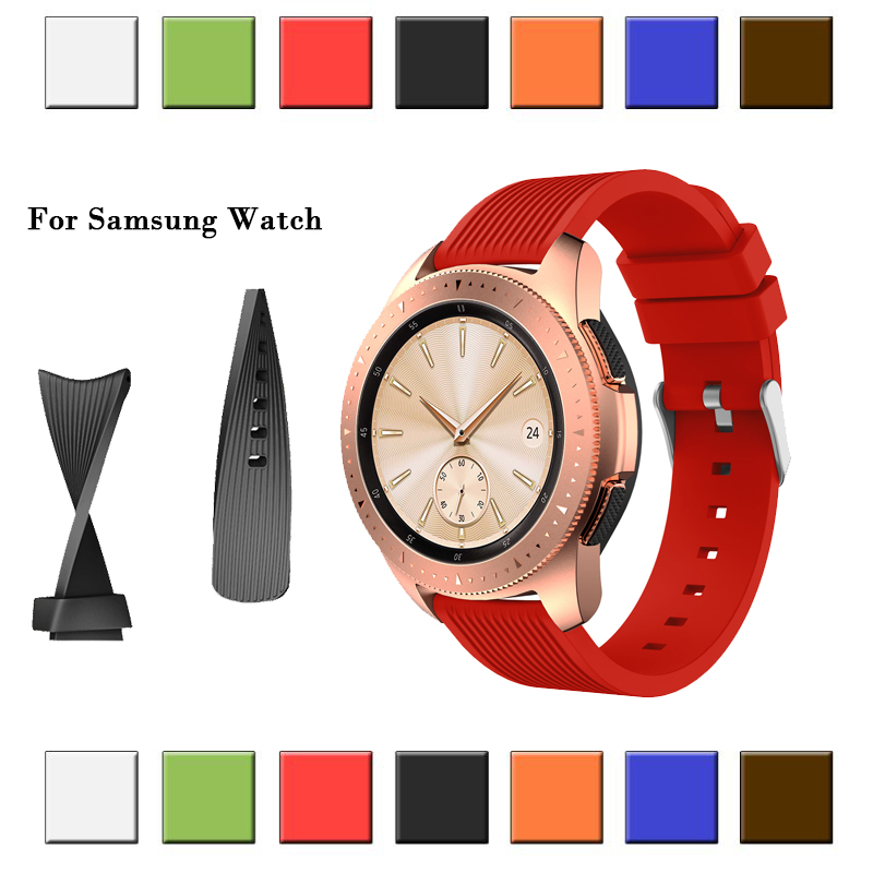 20mm 22mm Sport Silicone Watchband Strap For Samsung Galaxy Watch 42 46 Band For Samsung Gear Sport/Gear S2 Classic  Silicone