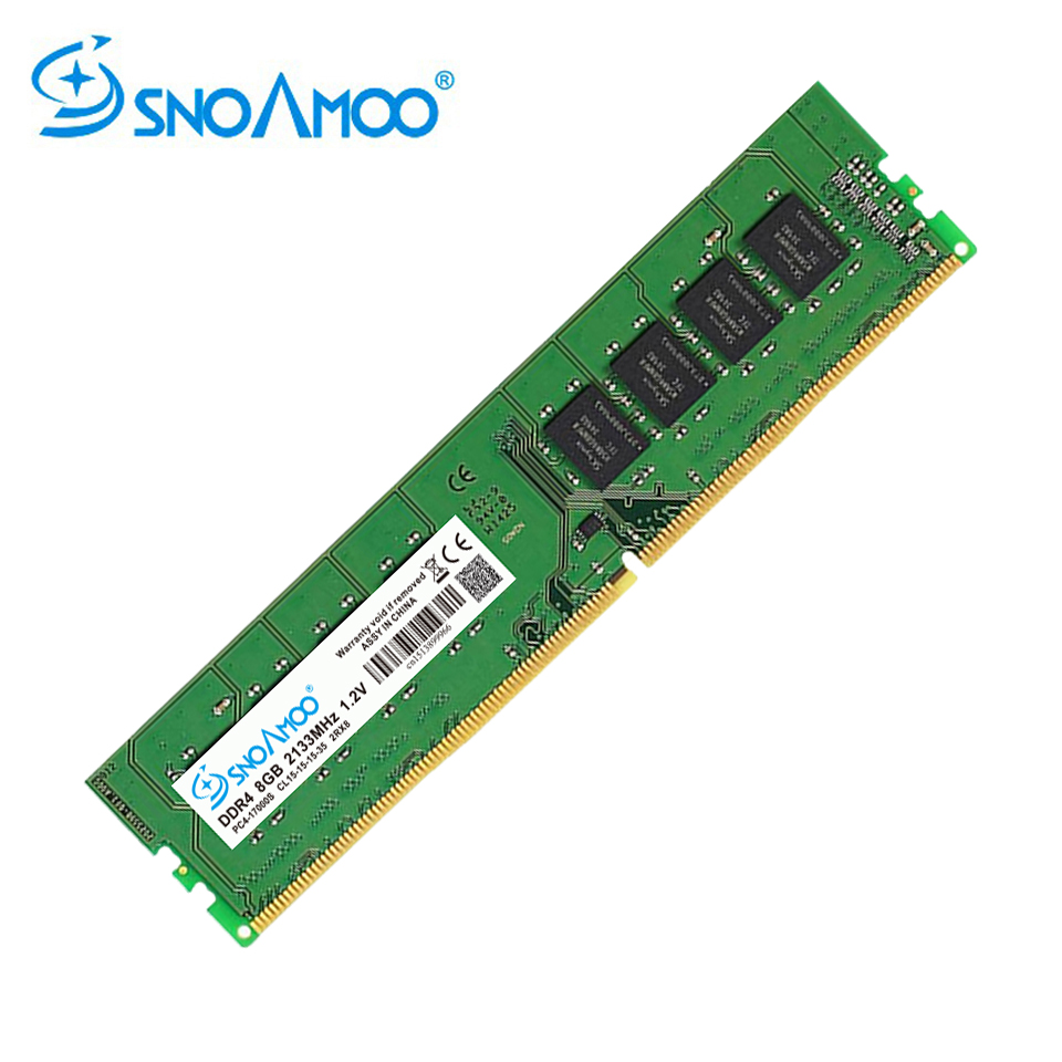 SNOAMOO DDR4 New Desktop PC 8GB 2133-2400MHz CL15 PC4-17000S 1.2V 2Rx8 8G 288-Pin DIMM For Intel Computer RAMs