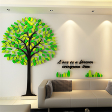 3D Three-dimensional Acrylic Wall Stickers for Kids Rooms Creative DIY Wall Sticker Tree living room TV background Home decor