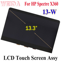 WEIDA LCD Replacement 13.3 For HP Spectre x360 13 W 13 W Series 13 W0J15PA 1920*1080 LCD Touch Screen Assembly